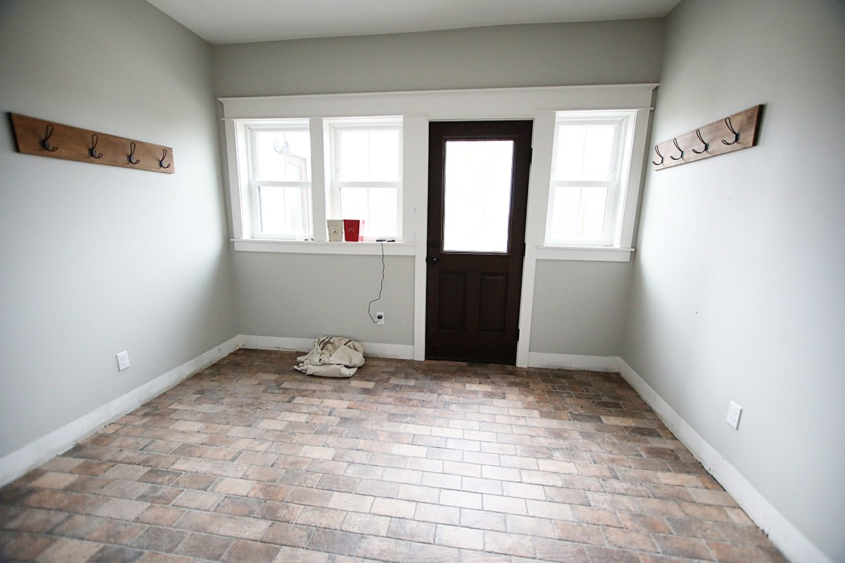 brick tile flooring