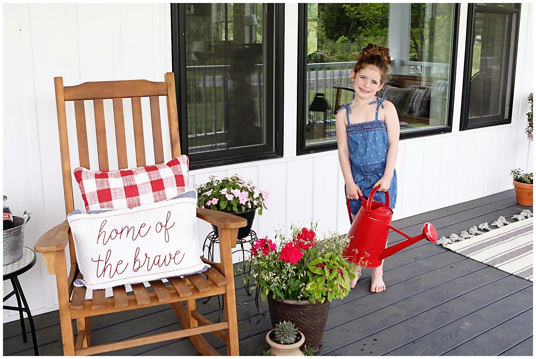Summer Farmhouse Porch Decor