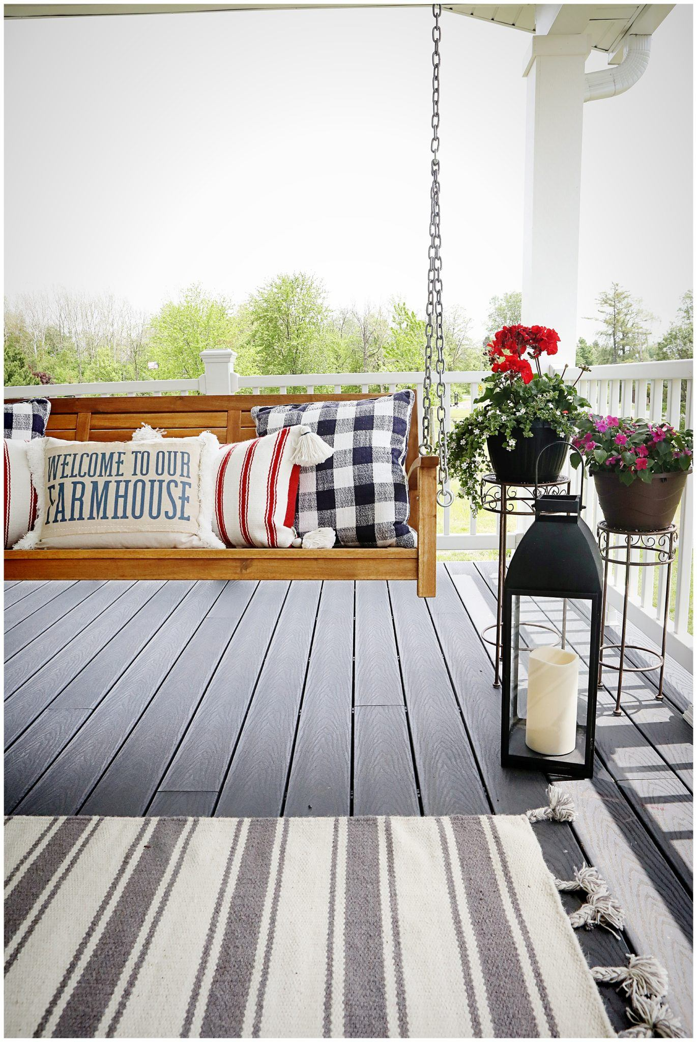 Summer Farmhouse Porch Decor
