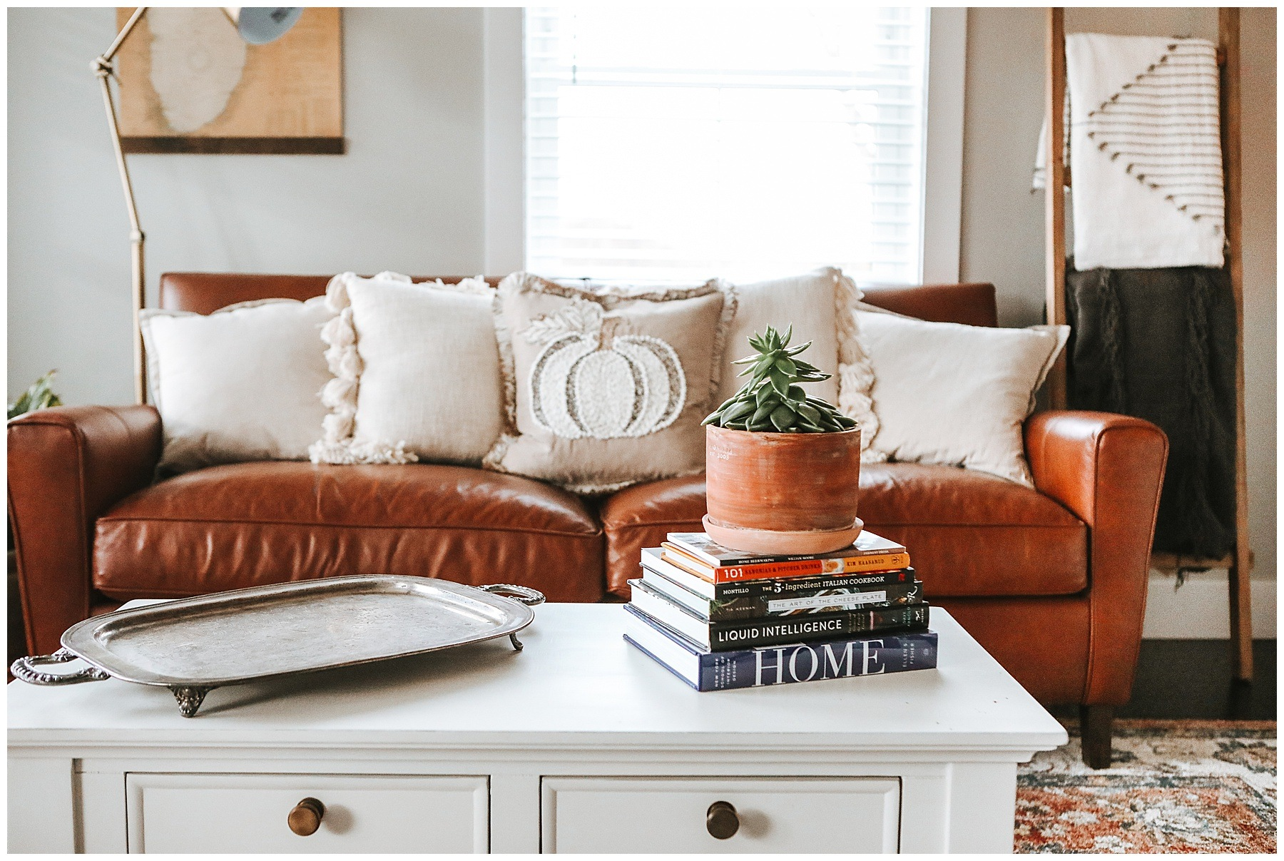 Fall Farmhouse Living Room Decor