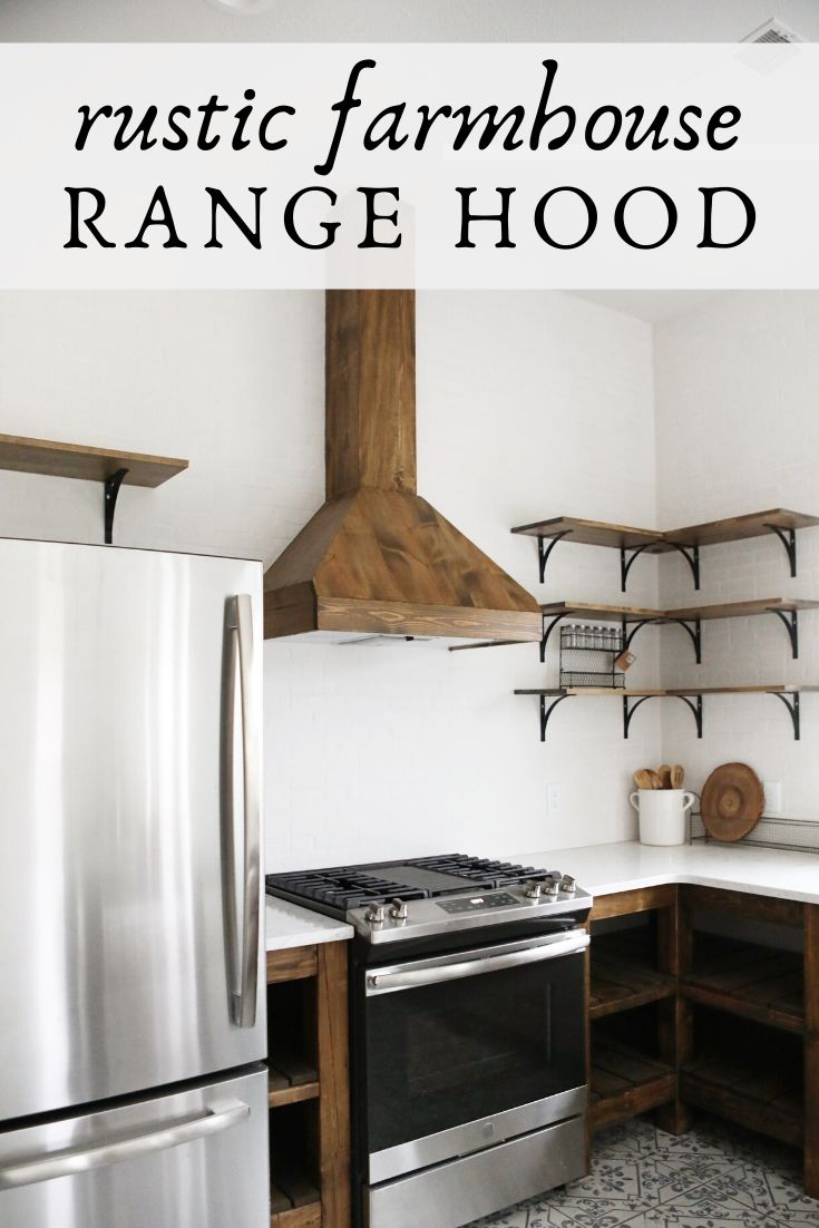 Farmhouse range hood